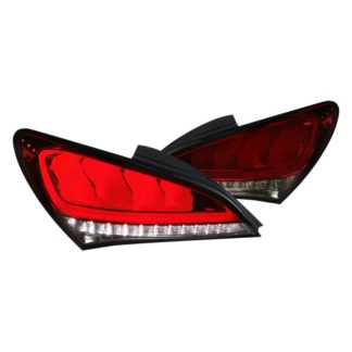 10-15 Hyundai Genesis 2Dr Led Tail Lights Red Smoke With Sequential