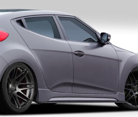 2012-2017 Hyundai Veloster Turbo Duraflex GT Racing Body Kit - 5 Piece