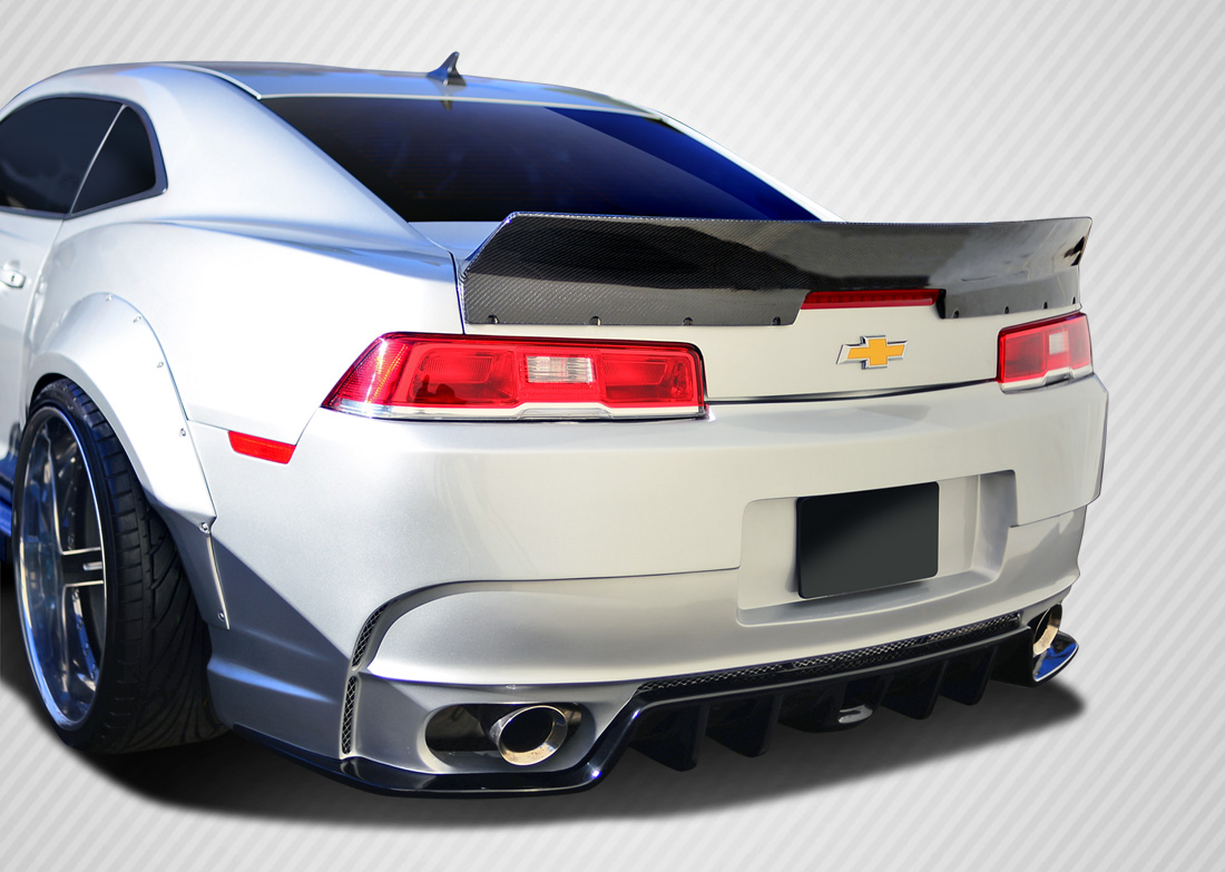 """For Camaro 61/"""" GT Style Carbon Fiber Down Force Width Stand Trunk Spoiler Wing"""