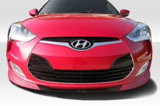 2012-2017 Hyundai Veloster Non Turbo Duraflex N Design Front Lip Spoiler - 1 Piece