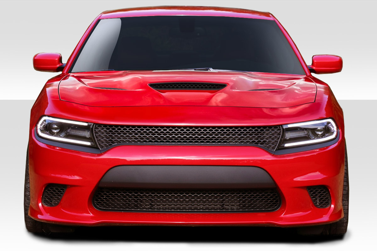 2015 2019 Dodge Charger Duraflex Hellcat Look Front Bumper 1 Piece