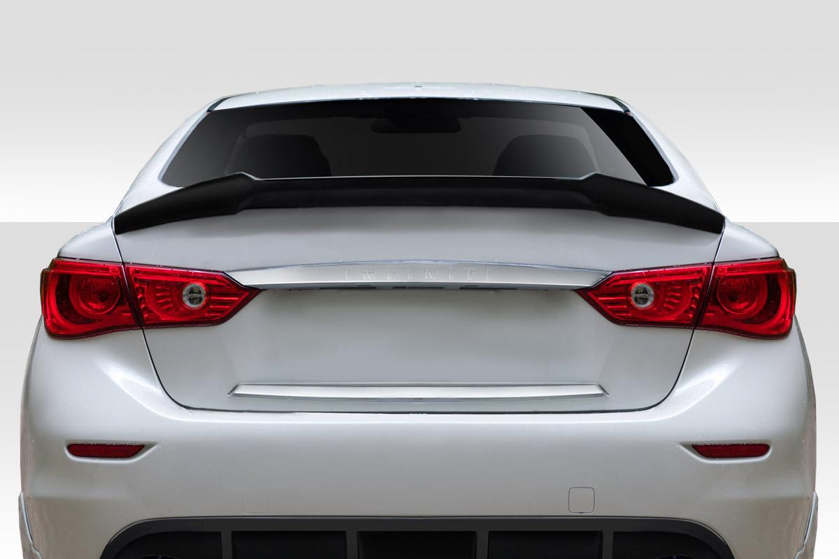 1 Piece Extreme Dimensions Duraflex Replacement for 2014-2017 Infiniti Q50 Impulse Rear Lip Spoiler