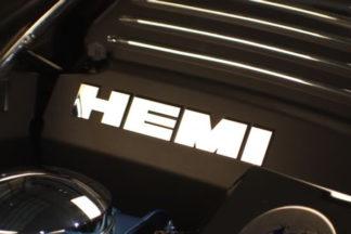 HEMI Letters Set ONLY for Engine Shroud Trim Kit Polished  8pc 2015 Dodge Charger R/T Road & Track