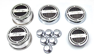 """Cap Cover Sets """"RT"""" 11pc Deluxe includes Shock Tower Cap Covers White CF  P05 JPG A"""