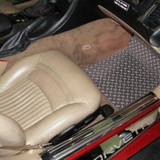 Floor Mat Diamond Plate 2pc |1999-2004 Chevrolet Corvette