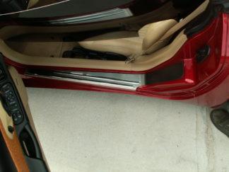 Doorsills Outer Satin w/Chrome Ribs 2pc |1997-2004 Chevrolet Corvette