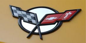 Emblem Inserts Polished 4pc Convertible |1998-2004 Chevrolet Corvette