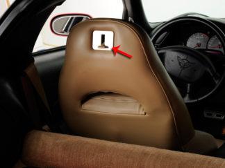 Seat Lever Plate Satin 2pc |1997-2004 Chevrolet Corvette