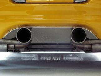 "Exhaust Filler Panel Polished Borla Stinger Dual 4"" Round Pipes |1997-2004 Chevrolet Corvette"