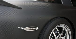 Side Marker Trim Satin Corvette GML Rear Side 2pc |1997-2004 Chevrolet Corvette