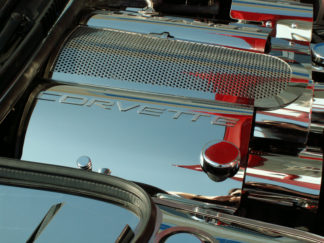 Fuel Rail Covers Polished 2pc GM Licensed w/cap cover |1999-2004 Chevrolet Corvette