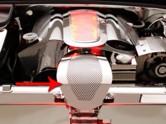 Air Tube Cover Perforated fits Factory Filter |1997-2004 Chevrolet Corvette