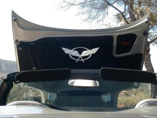 Hood Badge Stainless Emblem fits factory hood pad  1997-2004 Chevrolet Corvette