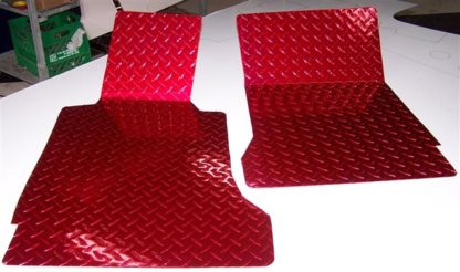 Floor Mats Show Diamond Plate Red |2005-2013 Chevrolet Corvette