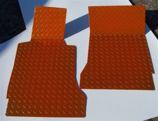 Floor Mats Show Diamond Plate Orange |2005-2013 Chevrolet Corvette
