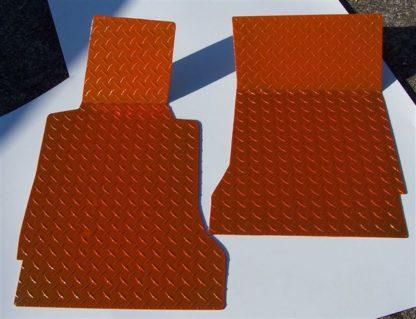 Floor Mats Show Diamond Plate Orange  2005-2013 Chevrolet Corvette