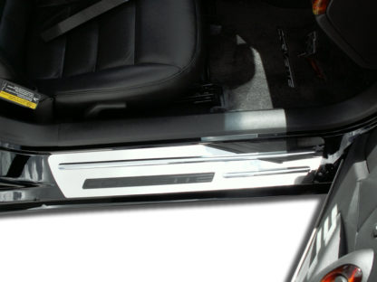 Doorsills Polished Outer w/Chrome Ribs Stock w/opening |2005-2007 Chevrolet Corvette