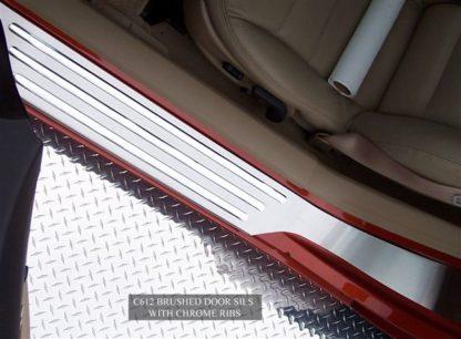 Doorsills Satin Outer w/Chrome Ribs  2005-2013 Chevrolet Corvette