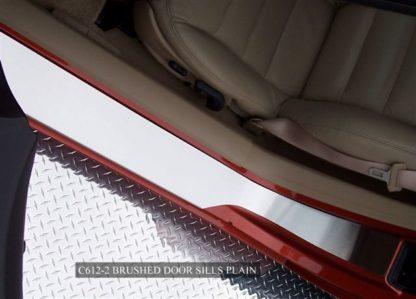 Doorsills Satin Outer Plain No Ribs |2005-2013 Chevrolet Corvette