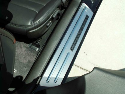 Doorsills Satin Outer w/Chrome Ribs Stock w/opening  2005-2007 Chevrolet Corvette