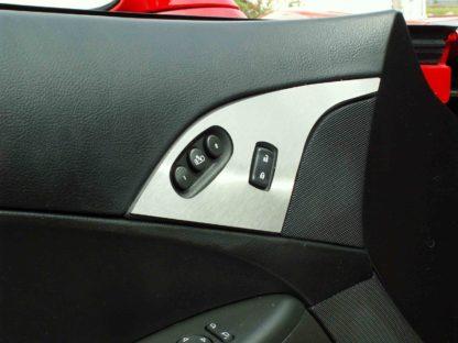 Door Lock Trim Plate Satin w/option button 2pc |2005-2013 Chevrolet Corvette