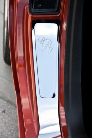 Vanity Plates Polished Monogramed