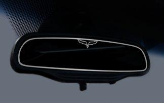 Mirror Trim Rear View Crossed Flags Style Trim GM Licensed |2005-2013 Chevrolet Corvette