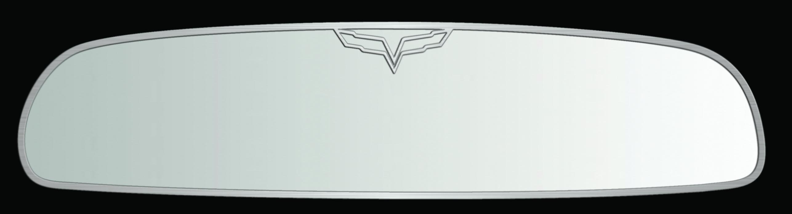 Mirror Trim Rear View Crossed Flags Style Trim Auto Dim GML |2005-2013 Chevrolet Corvette