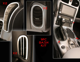 Dash Kit Polished 9pc |2005-2013 Chevrolet Corvette