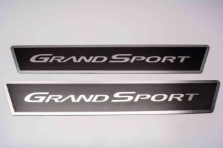 """Outer Door Sills Carbon Fiber w/ Polished Stainless Steel  Inlay """"Grand Sport"""" 
