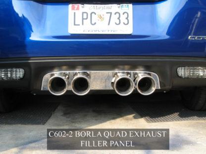 Exhaust Filler Panel Borla Stinger/Touring Round Quad Polished |2005-2013 Chevrolet Corvette