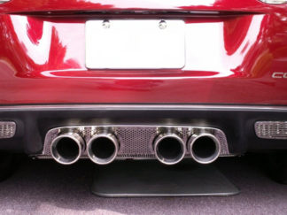 Exhaust Filler Panel Borla Stinger/Touring Round Quad Perforated |2005-2013 Chevrolet Corvette