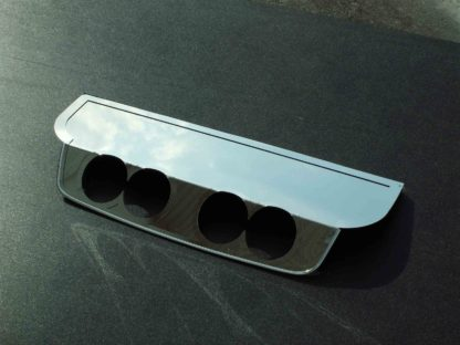 "Exhaust Filler Panel BB RTE 66 4"" Round Quad Polished  2005-2013 Chevrolet Corvette"