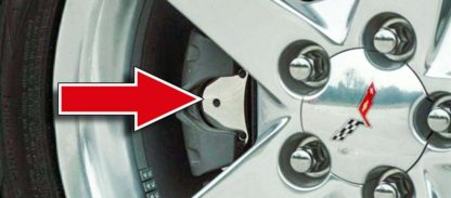 Brake Pad Covers Polished 4pc  2005-2013 Chevrolet Corvette