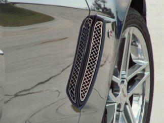 Vent Grilles Laser Mesh Front Side 2pc Z06 |2006-2013 Chevrolet Corvette