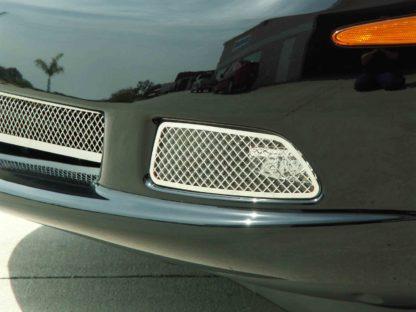 Driving Light Covers Laser Mesh 2pc C6 |2005-2013 Chevrolet Corvette