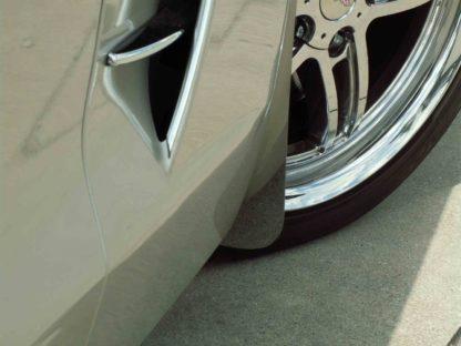 Mud Guards Polished Front  2005-2013 Chevrolet Corvette
