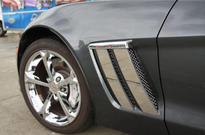 Vent Grille Laser Mesh Side 6pc Front  2010-2013 Chevrolet Corvette