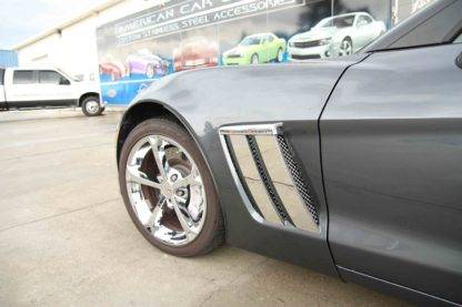Fender Trim Plates Polished |2010-2013 Chevrolet Corvette
