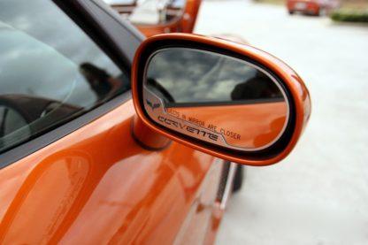 Mirror Trim Side View Cross Flag Style Auto Dim 2pc GML |2008-2019 Dodge Challenger
