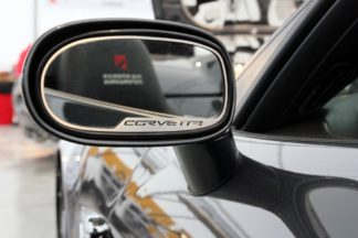 Mirror Trim Side View Corvette Style Auto Dim 2pc GML |2005-2013 Chevrolet Corvette