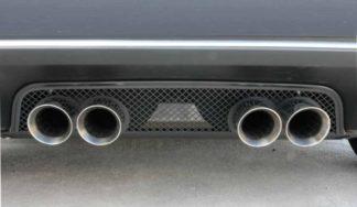 Exhaust Filler Panel Stock Exhaust Laser Mesh Black Stealth |2005-2013 Chevrolet Corvette