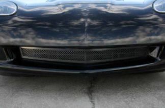 Grille Laser Mesh Front  C6 Black Powder Coat Stealth |2005-2013 Chevrolet Corvette