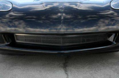 Grille Laser Mesh Front  C6 Black Powder Coat Stealth  2005-2013 Chevrolet Corvette