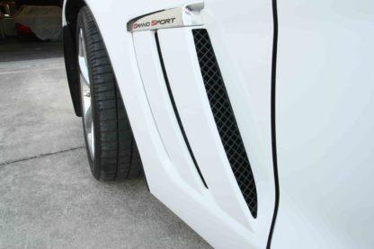 Vent Grille Laser Mesh Side 6pc Front Black Powder Coat Stealth  2005-2013 Chevrolet Corvette