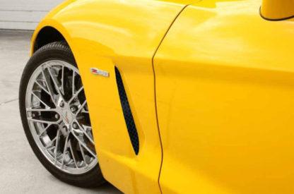 Vent Grilles Laser Mesh Side 2pc C6 Black Powder Coat Stealth  2005-2013 Chevrolet Corvette