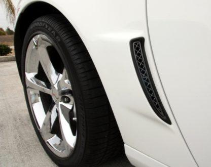 Vent Grilles Laser Mesh Side 2pc Rear Z06 Black Stealth |2006-2013 Chevrolet Corvette