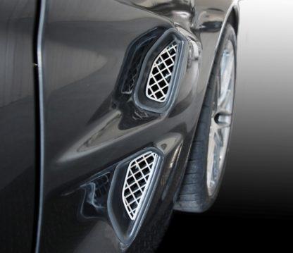 Vent Grilles Laser Mesh Side Polished 4pc ZR1 |2005-2013 Chevrolet Corvette