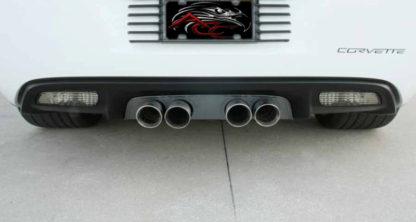 Exhaust Filler Panel NPP Exhaust Solid Black Stealth |2005-2013 Chevrolet Corvette