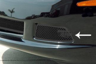 Driving Light Covers Laser Mesh Black Stealth 2pc C6 |2005-2013 Chevrolet Corvette